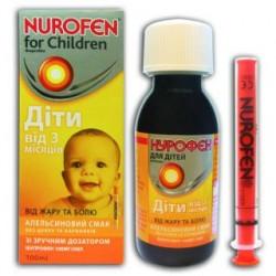 Нурофен детский сусп. 100 мг/5 мл фл. 100 мл, апельсин