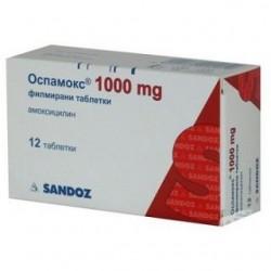 Оспамокс таблетки покрытые пленочной оболочкой 1000 мг n12 (6х2)