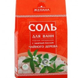Соль морская для ванн Желана 500 г, чайное дерево