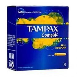 Тампоны Тампакс компак регуляр с аппликатором №8