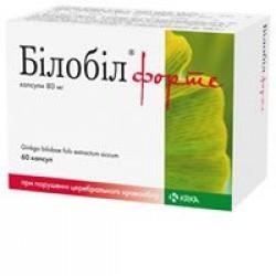 Билобил форте капс. 80 мг №60
