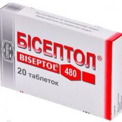 Бисептол табл. 400 мг + 80 мг блистер №20