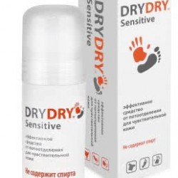Дезодорант д/тела Dry Dry(Драй Драй) Sensitive Antiperspirant шарик. 50мл