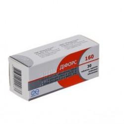 Дифорс 160 табл. п/о 5 мг + 160 мг блистер №30