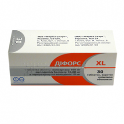 Дифорс XL 10/160 табл. п/о 10 мг + 160 мг блистер №30