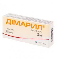 Димарил табл. 2 мг блистер №30