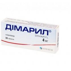 Димарил табл. 4 мг блистер №30