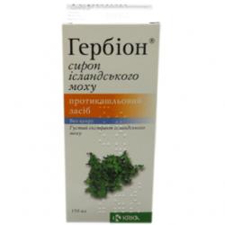 Гербион исландский мох сироп 6 мг/мл фл. 150 мл №1
