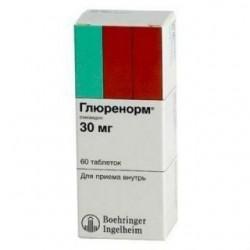 Глюренорм табл. 30 мг блистер №60