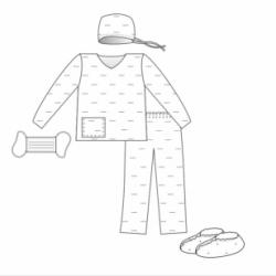 Комплект одежды акушерский для партнерских родов №2 стерил.