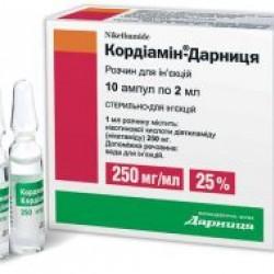 Кордиамин р-р д/ин. 25% амп. 2 мл №10