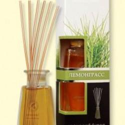 Аромадиффузор с бамбуковыми палочками фл. 100 мл, лемонграсс