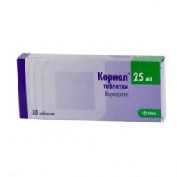 Кориол таблетки 25 мг №28 (14х2)