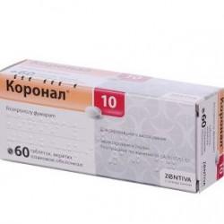 Коронал табл. п/о 10 мг №60