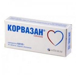 Корвазан табл. п/о 12,5 мг №30