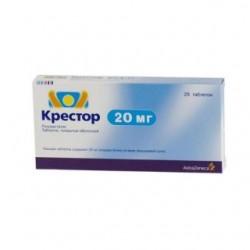 Крестор табл. п/о 20 мг №28