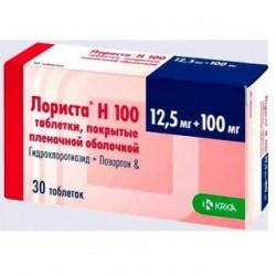 Лориста h 100 таблетки 100/12.5 мг №30