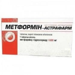 МЕТФОРМИН-АСТРАФАРМ Т1000МГ#60