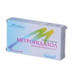 Метронидазол супп. вагин. 100 мг стрип №10